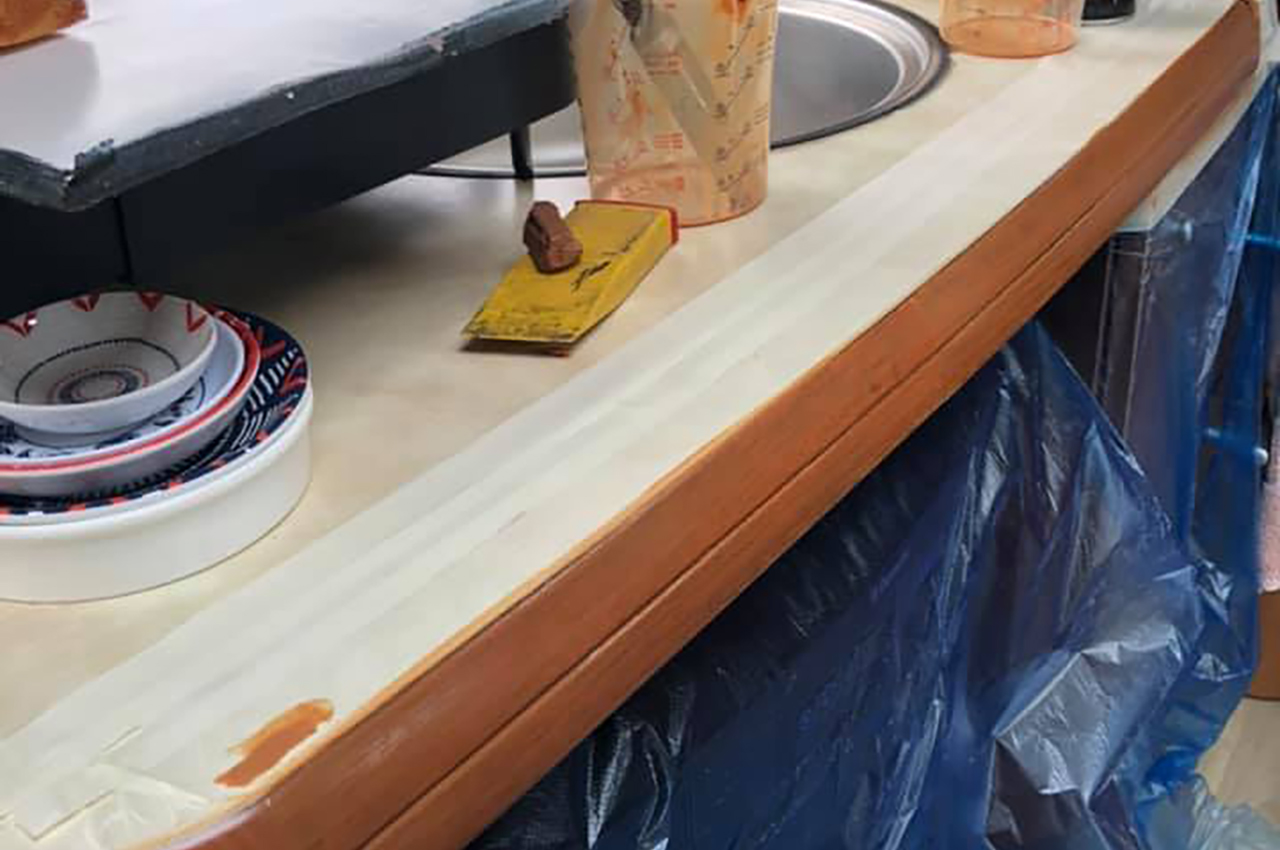 Repit-UK repair motorhome lamianted worktops in Somerset and the South West of England