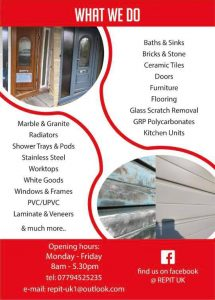 Repair it specialists advertising flyer back page