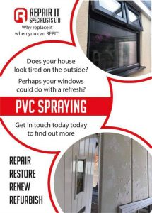 Repair it specialists advertising flyer front page